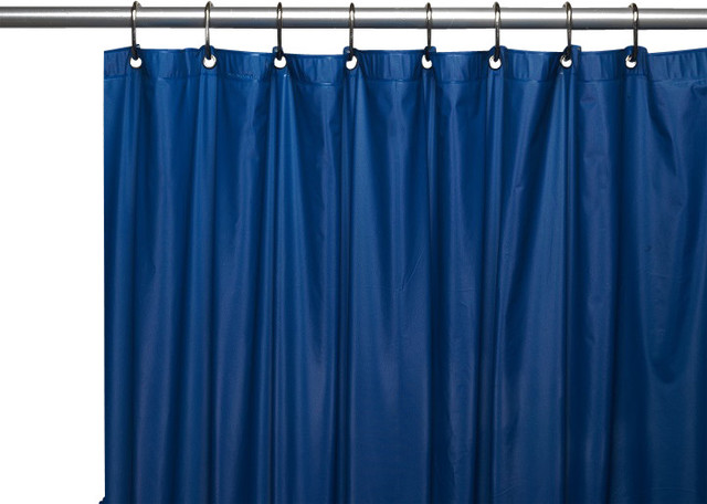 Hotel Quality Vinyl Shower Curtain Navy Shower Curtains By Linens4less