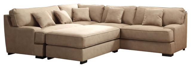 homelegance minnis 2 piece living room set in beige faux