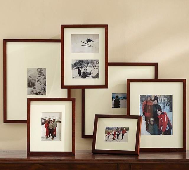 Wood Gallery Oversize Matte Frames Espresso Stain