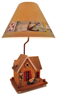nautical crab shack beach house table lamp 25 in beach. Black Bedroom Furniture Sets. Home Design Ideas