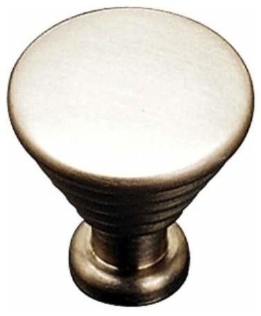 Richelieu Contemporary Solid Brass Knob 25mm Satin Nickel ...