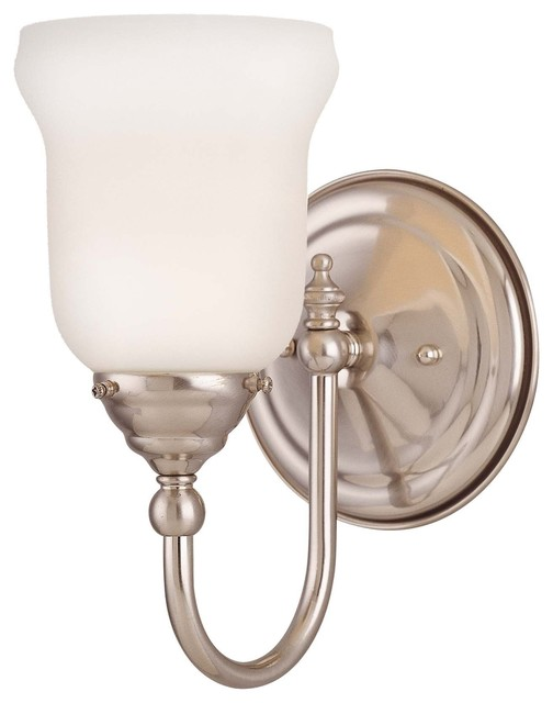 Brunswick Bath 1 Light Sconce Modern Bathroom Vanity Lighting By Fratan