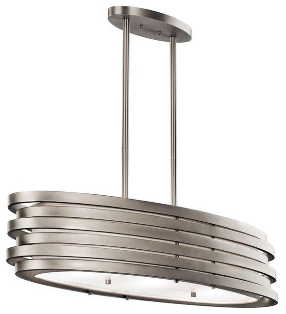 Kichler Lighting 43303ni Roswell Contemporary Chandelier In Brushed Nickel Contemporary