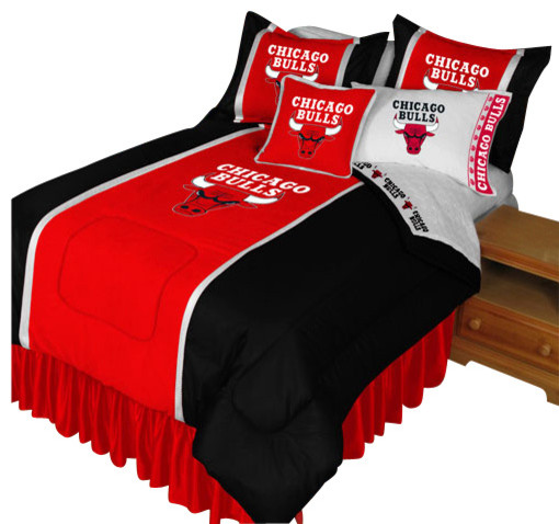 Nba Chicago Bulls Bedding Set Basketball Bed Full Contemporary Kids Bedding By Obedding