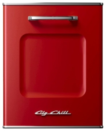 retro dishwasher panel cherry red moderne lave vaisselle par big chill. Black Bedroom Furniture Sets. Home Design Ideas