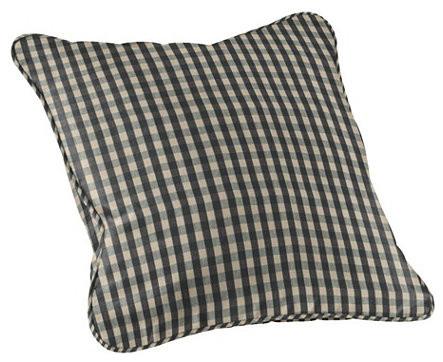 essential pillow small black check farmhouse