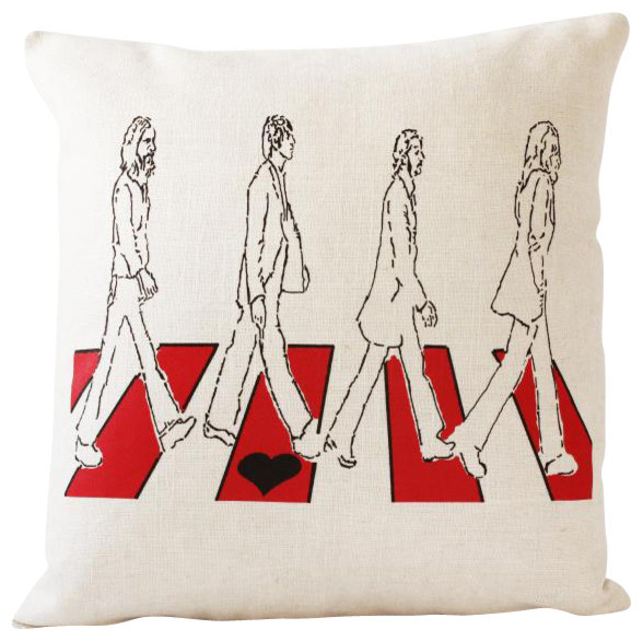Decorative Pillows Without Covers : Beatles Throw Pillow Cover, Without Insert - Contemporary - Decorative Pillows - by reStyled by ...