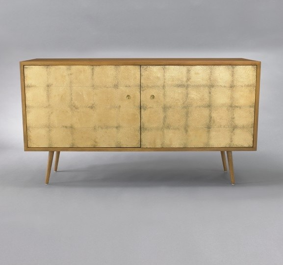 Franklin Media Cabinet - Gold Leaf - Buffets And Sideboards - by DwellStudio