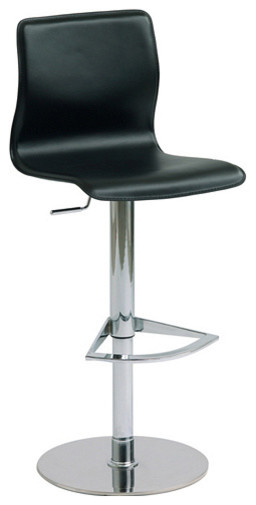 Weston Black Leather Adjustable Bar Counter Stool By Nuevo HGAR135 Modern