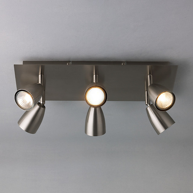 D modern track lighting kits by john lewis for Kitchen lighting ideas john lewis