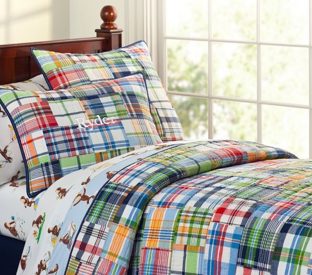 Madras Quilted Bedding Traditional Kids Bedding By
