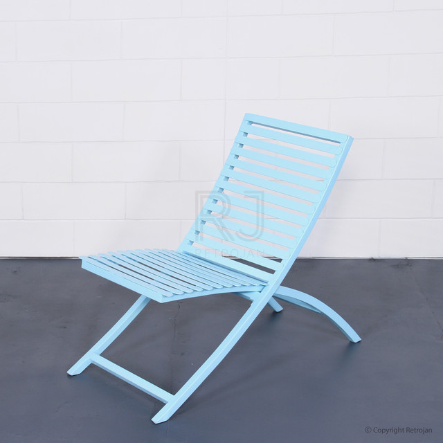 JACKSON FOLDING CHAIR BABY BLUE Industrial Outdoor Folding Chairs mel