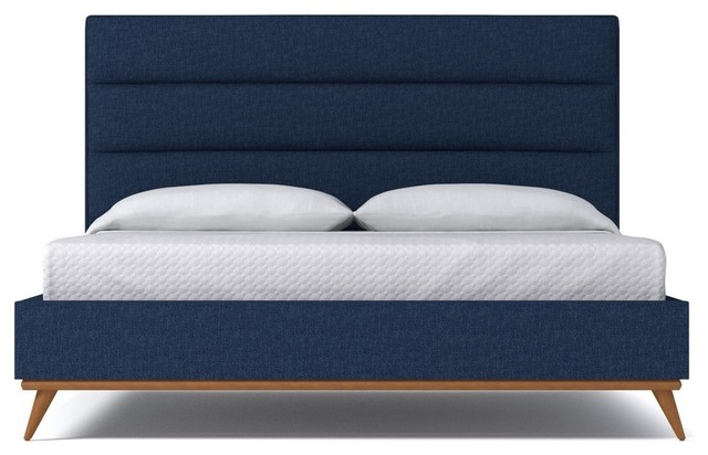 Aptb Cooper Upholstered Bed From Kyle Schuneman Navy Platform Beds