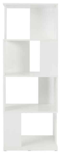 Cabrio 71 shelving unit white modern bookcases by - Modern white shelving unit ...