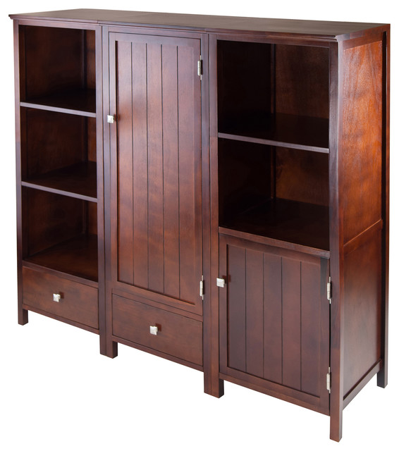 Brooke 3-Piece Jelly Cupboard Modular Set - Transitional - Storage Cabinets - by Winsome