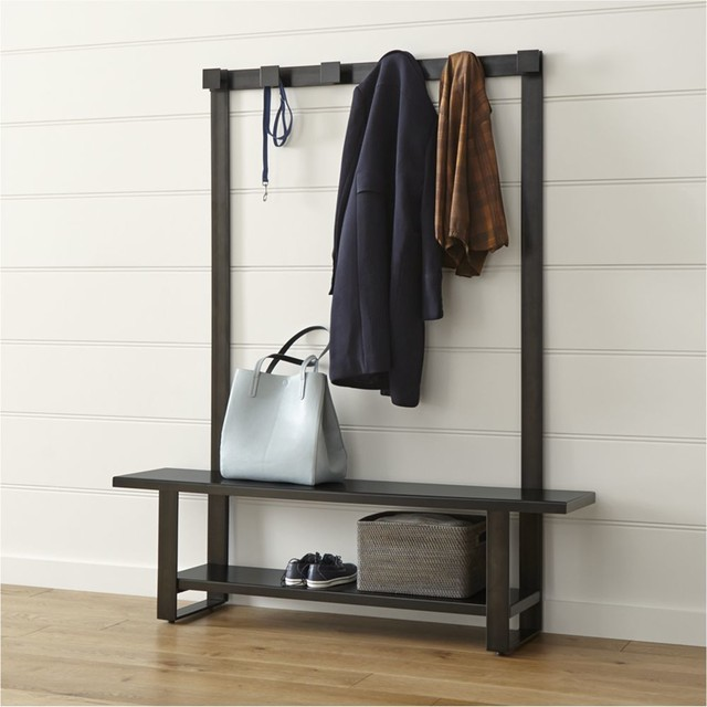 Welkom Hall Tree Bench with Coat Rack - Contemporary - Dining Benches - by Crate&Barrel