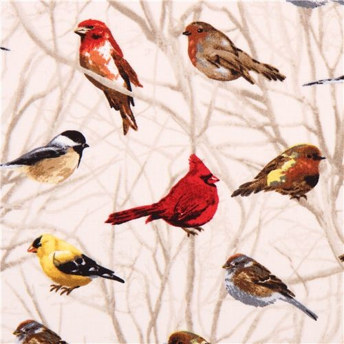 Cream Bird On Branch Fabric Timeless Treasures Usa Fabric