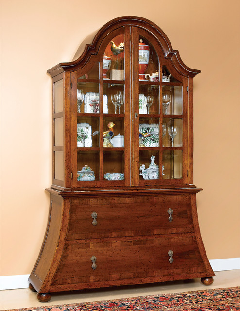 Solid Walnut Rustic Curio Cabinet Rustic Other Metro By David Michael Furniture