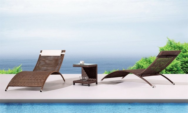 Havana Patio Chaise Lounge Contemporary Outdoor Chaise