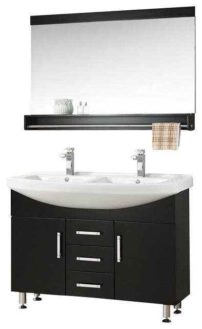 47 quot sink espresso vanity set modern bathroom