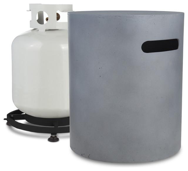 Mezzo 20lb cylinder liquid propane tank holder flint grey for Chauffage exterieur propane