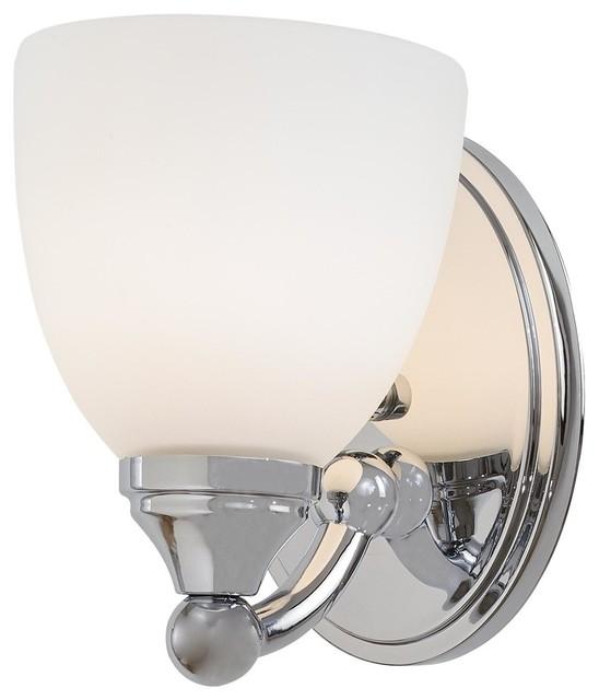Minka Lavery 5841-77 Taylor Chrome 1 Light Bathroom Wall Sconce - Modern - Bathroom Vanity ...