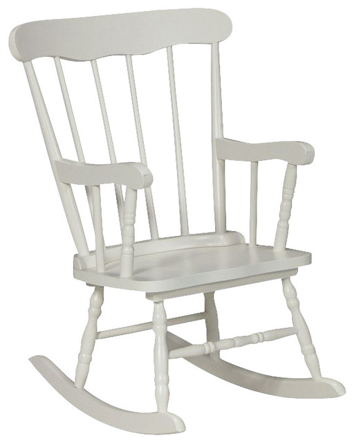 ... Concepts Kids Rocker in Linen White - Transitional - Rocking Chairs
