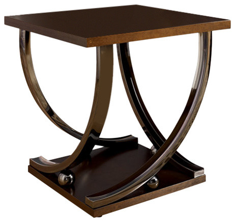 Ashley Rollins Dark Brown Square End Table Side Tables