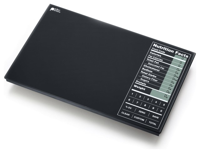 Perfect portions digital scale black with nutrition facts for Perfect kitchen pro smart scale