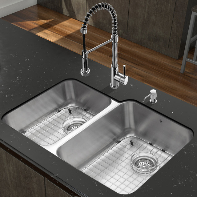 Undermount stainless steel kitchen sink amp chrome faucet set modern