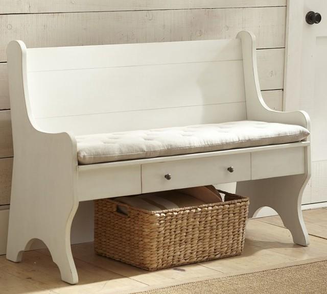 Family Storage Bench Traditional Accent Storage Benches Sacramento By Pottery Barn