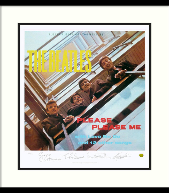 The Beatles: Please Please Me (Album Cover) Framed Print - Traditional - Prints And Posters