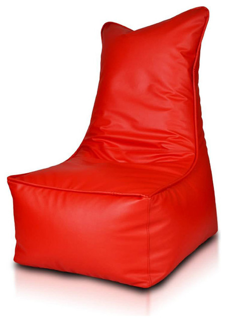 Beanbag Elegant Red Filled Bag Modern Bean Bags By