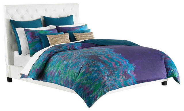 Amy sia midnight storm king purple duvet cover duvet - Purple and blue comforter sets ...