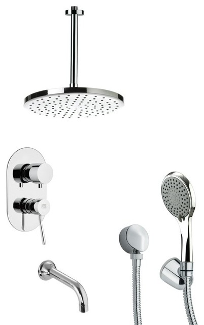 Complete Shower And Tub Faucet Set Modern Bathtub And