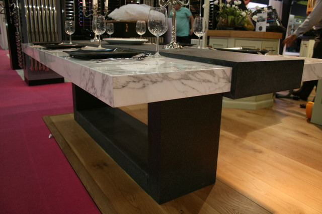 Stone table for grand designs show contemporary dining tables other metro by ogle - Stylish contemporary dining table ideas showing simple designs ...