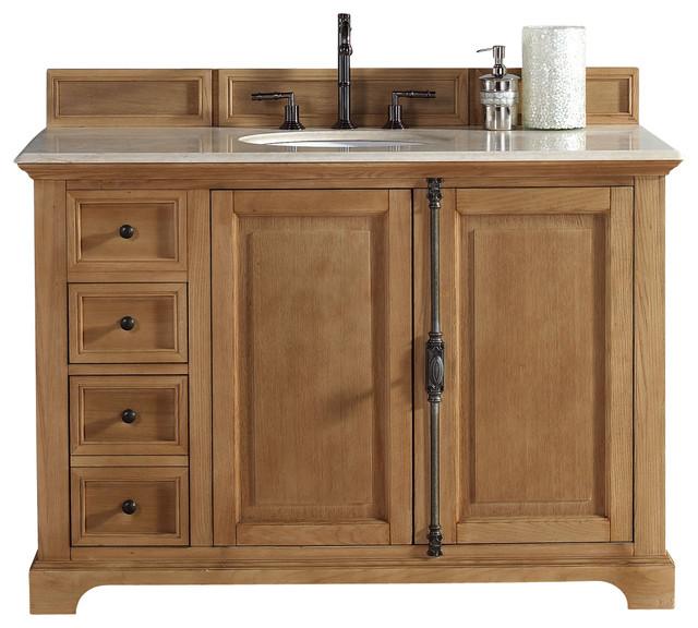 James Martin Providence 48 Single Vanity Cabinet Natural Oak Cabinet