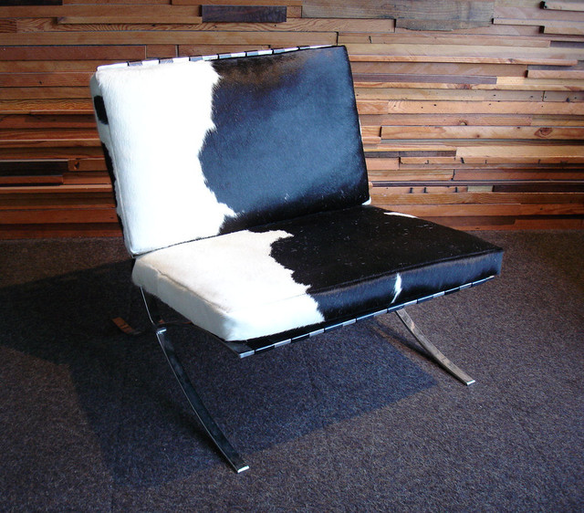 Barcelona Chair Cowhide Eclectic Living Room Chairs Portland By Acan