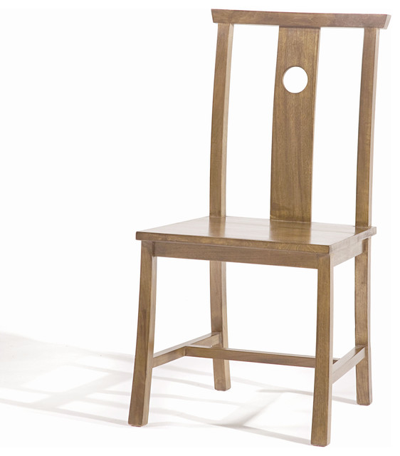 asian dining room chairs | Indigo Dining Side Chair, Natural Walnut - Asian - Dining ...
