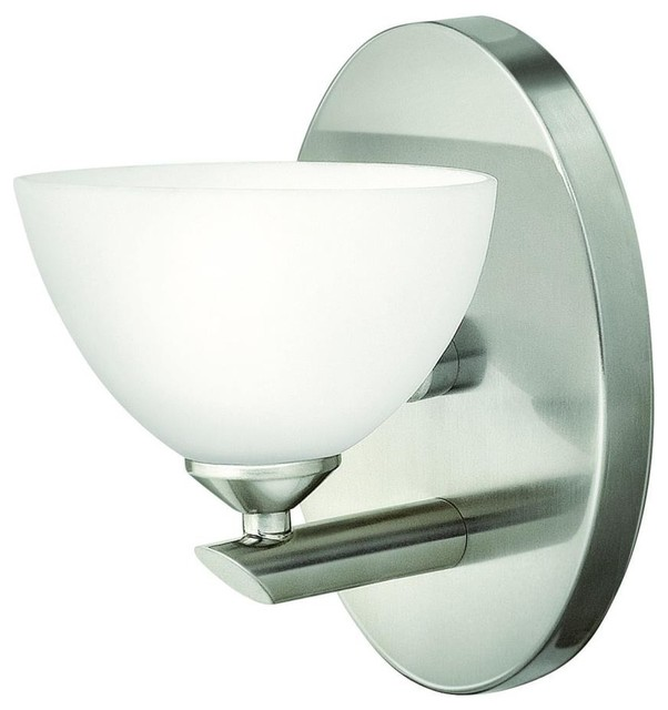 Hinkley 5340bn Mia One Light Bath Vanity Transitional Bathroom Vanity Lighting By