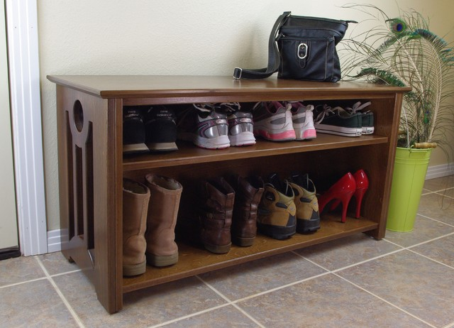 Mac Shoe Boot Storage Bench Contemporary Accent