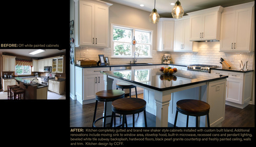 Kitchen remodel from old to new for Creative home designs llc