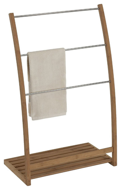 Natural Style Bamboo Towel Holder Modern Towels By