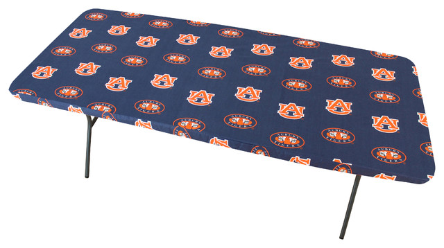 """Auburn Tigers 6' Table Cover, 72""""x30"""""""