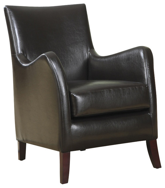 Monarch Specialties Accent Chair Dark Brown Traditional
