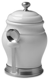 Williams Ceramic Coffee Canister With Spoon Modern