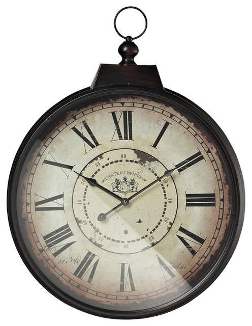 Sterling Industries 118 043 Chateau Renier Clock w Bronze