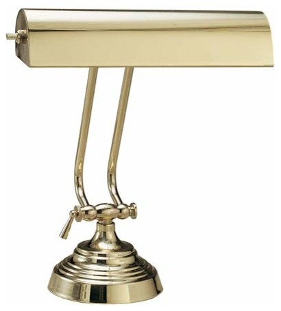 10 inch polished brass piano desk lamp traditional