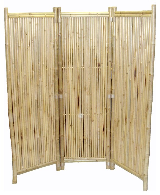 Bamboo Sticks Room Divider ~ Bamboo panel screen small round sticks tropical