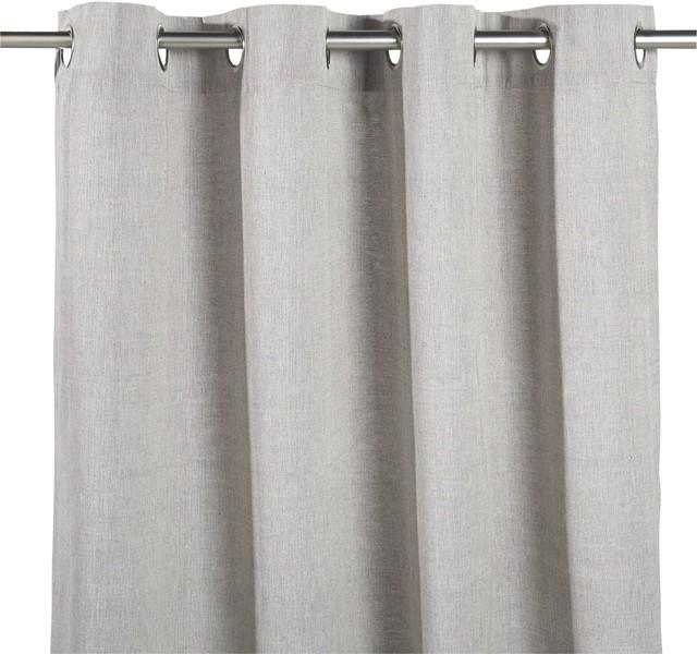 alm ra rideau illets 140x250cm gris clair. Black Bedroom Furniture Sets. Home Design Ideas